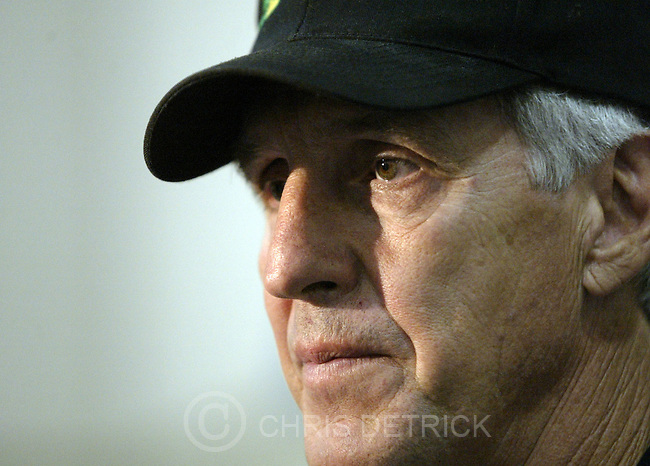 Salt Lake City,Utah--6/23/2005- .Jazz Head Coach Jerry Sloan talks with the media after a practice Thursday morning..The Jazz will have a workout session with two players they could pick in Tuesday's draft -- North Carolina's Raymond Felton and Illinois' Deron Williams..Photo By: Chris Detrick /Salt Lake Tribune.File #Jazz Practice CD09