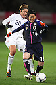 (L to R) Abby Wambach (USA), Kyoko Yano (JPN), .April 1, 2012 - Football / Soccer : .KIRIN Challenge Cup 2012 .Match between Japan 1-1 USA .at Yurtec Stadium Sendai, Miyagi, Japan. .(Photo by Daiju Kitamura/AFLO SPORT) [1045]..