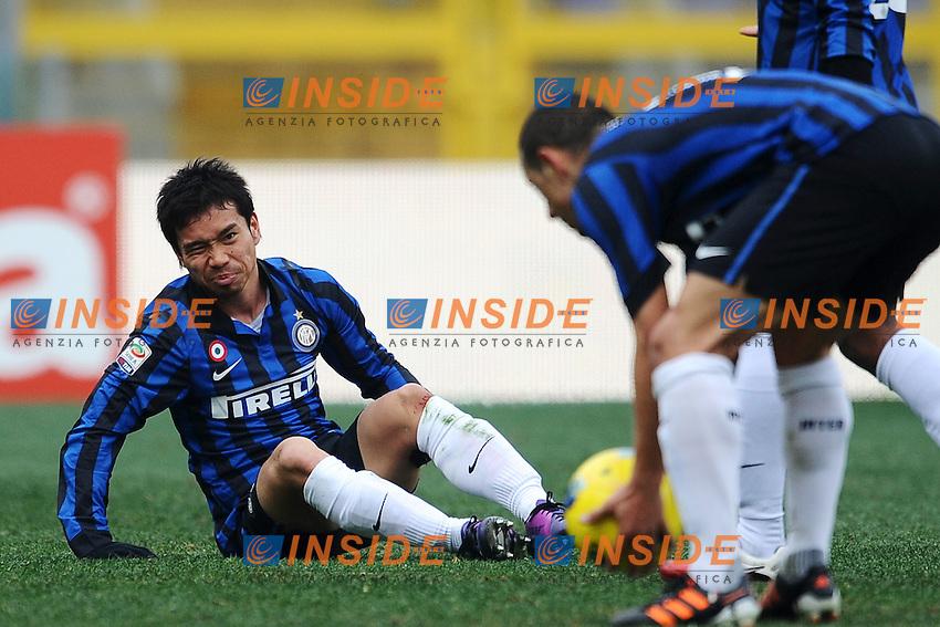 """Yuto Nagatomo Inter.Roma 5/2/2012 Stadio """"Olimpico"""".Football Calcio 2011/2012 Serie A.Roma Vs Inter.Foto Insidefoto Andrea Staccioli"""
