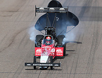 Feb 24, 2019; Chandler, AZ, USA; NHRA top fuel driver Doug Kalitta during the Arizona Nationals at Wild Horse Pass Motorsports Park. Mandatory Credit: Mark J. Rebilas-USA TODAY Sports