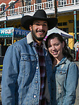 Mauricio and Alysa during the 28th annual Rocky Mountain Oyster Fry and St. Patrick's Day Parade in Virginia City, Nevada on Saturday March 16, 2019.