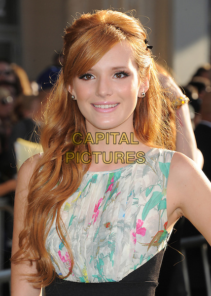 Bella Thorne.The World Premiere 'The Odd Life of Timothy Green' held at The El Capitan Theatre in Hollywood, California, USA..August 6th, 2012.half length black dress sleeveless white green print top.CAP/RKE/DVS.©DVS/RockinExposures/Capital Pictures.
