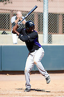 Colorado Rockies minor league outfielder Francisco Sosa #21 during an instructional league intrasquad game at the Salt River Flats Complex on October 5, 2012 in Scottsdale, Arizona.  (Mike Janes/Four Seam Images)