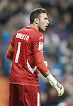 Real Zaragoza's Roberto Jimenez reacts during La Liga Match. November 03, 2012. (ALTERPHOTOS/Alvaro Hernandez)