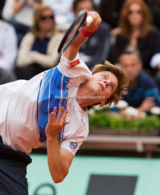 03-06-12, France, Paris, Tennis, Roland Garros,   David Goffin