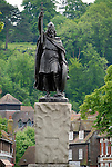 Statue of King Alfred the Great and St Giles' Hill, Winchester, Hampshire, England