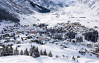 CH, Switzerland, Canton Uri, Andermatt: popular wintersport resort at the Gotthard pass road