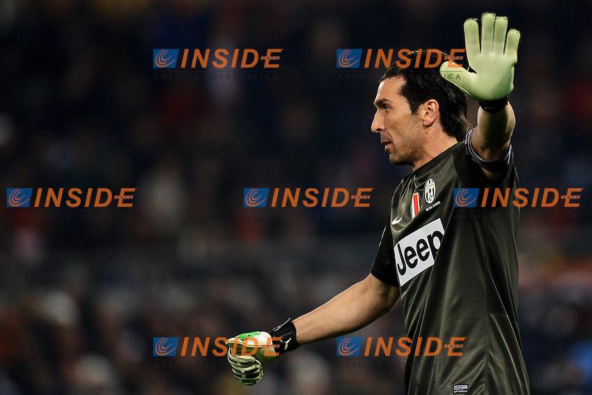 Gianluigi Buffon Juventus .Roma 16/02/2013 Stadio Olimpico.Football Calcio 2012/2013 Serie A.Roma Vs Juventus.Foto Andrea Staccioli Insidefoto
