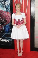 Emma Stone at the premiere of Columbia Pictures' 'The Amazing Spider-Man' at the Regency Village Theatre on June 28, 2012 in Westwood, California. © mpi35/MediaPunch Inc. /*NORTEPHOTO.COM*<br /> **SOLO*VENTA*EN*MEXICO** **CREDITO*OBLIGATORIO** *No*Venta*A*Terceros*<br /> *No*Sale*So*third* ***No*Se*Permite*Hacer Archivo***No*Sale*So*third*©Imagenes*con derechos*de*autor©todos*reservados*.