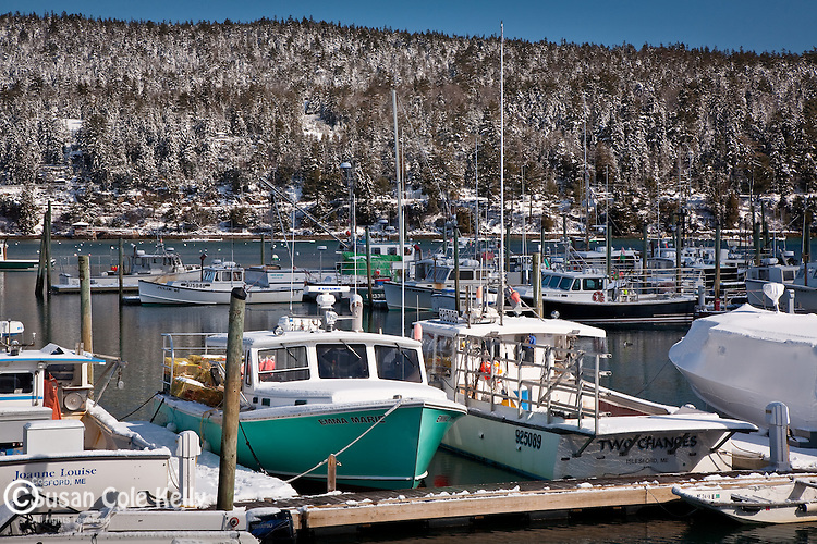Fishing boats in Northeast Harbor, ME