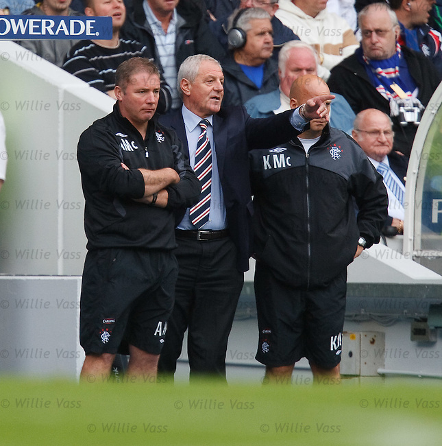 Walter Smith directs operations on the touchlines