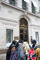The Harry Winston jewelry store in Midtown Manhattan in New York is seen on Sunday, January 22, 2012. (© Richard B. Levine)