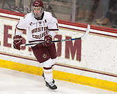 Ryan Fitzgerald (BC - 19) - The visiting University of Vermont Catamounts tied the Boston College Eagles 2-2 on Saturday, February 18, 2017, Boston College's senior night at Kelley Rink in Conte Forum in Chestnut Hill, Massachusetts.Vermont and BC tied 2-2 on Saturday, February 18, 2017, Boston College's senior night at Kelley Rink in Conte Forum in Chestnut Hill, Massachusetts.