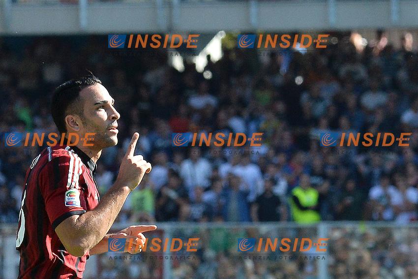 Esultanza Adil Rami Milan dopo il gol 1-1- Goal celebration <br /> Cesena 28-09-2014 Stadio Dino Manuzzi, Football Calcio Serie A Cesena - Milan. Foto Andrea Staccioli / Insidefoto