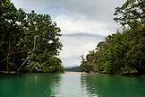PHILIPPINES, Palawan, Sabang, looking out of the entrance to the Underground River