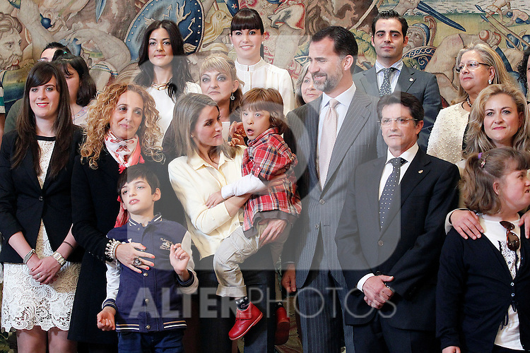 "Princes Felipe and Letizia of Spain attend in audience a representation of the Public School for Special Education ""Pilar Soubrier"".May 22 ,2012. (ALTERPHOTOS/Acero)"