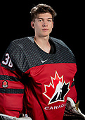 MEDICINE HAT, AB - Oct 31 2019: Canada Red during the 2019 World Under-17 Challenge at the Canalta Centre on Oct 31 2019 in Medicine Hat, Alberta, Canada. (Photo by Matthew Murnaghan/Hockey Canada Imaghes)