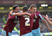 02/05/16 Sky Bet League Championship  Burnley v QPR<br /> Sam Vokes mobbed after scoring the winning goal