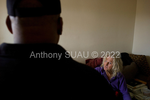 Los Angeles, California<br /> January 28, 2014<br /> <br /> Former homeless veteran Michael Brody 72 yrs old in his apartment that he has because of a HUD Vash voucher.