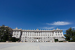 `Palacio Real de Madrid´ Madrid´s Royal Palace in Madrid, Spain. Today, King Juan Carlos of Spain made a public announcement of his abdication will, his son, Prince Felipe of Spain, will become Spain´s king after the official ceremony. June 02, 2013. (ALTERPHOTOS/Victor Blanco)