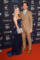 Elise Christie and Shaolin Sándor Liu<br /> arriving for the BT Sport Industry Awards 2018 at the Battersea Evolution, London<br /> <br /> ©Ash Knotek  D3399  26/04/2018