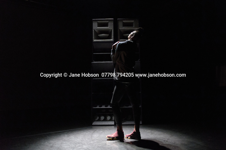 """Jamila Johnson-Small in her work """"i ride in colour and soft focus, no longer anywhere"""", at Rich Mix, as part of the Dance Umbrella festival."""