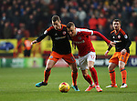 Charlton's Fredrik Ulvestad tussles with Sheffield United's Paul Coutts during the League One match at the Valley Stadium, London. Picture date: November 26th, 2016. Pic David Klein/Sportimage