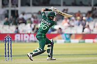 Babar Azam (Pakistan) drives through the covers during Pakistan vs Bangladesh, ICC World Cup Cricket at Lord's Cricket Ground on 5th July 2019