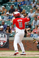 Outfielder Byron Buxton #11 during the Under Armour All-American Game at Wrigley Field on August 13, 2011 in Chicago, Illinois.  (Mike Janes/Four Seam Images)