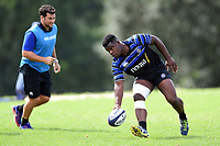 Levi Davis of Bath Rugby in action. Bath Rugby pre-season training on August 14, 2018 at Farleigh House in Bath, England. Photo by: Patrick Khachfe / Onside Images