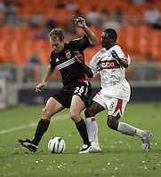 Bryan Namoff, left, Damani Ralph, right, Chicago vs DC United at RFK Stadium in Washington, DC.