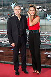"""Vicente Valles and his wife Angeles Blanco during the premiere of the American Film """"Money Monster"""" at the Roof of the Torre Picasso in Madrid. May 18 2016. (ALTERPHOTOS/Borja B.Hojas)"""