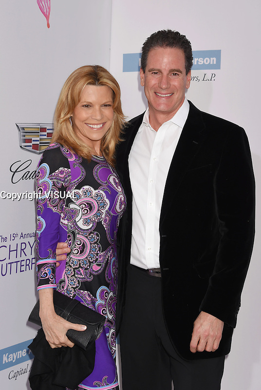 BRENTWOOD, CA - JUNE 11: TV personality Vanna White and John Donaldson arrive at the 15th Annual Chrysalis Butterfly Ball at a private residence on June 11, 2016 in Brentwood, California.