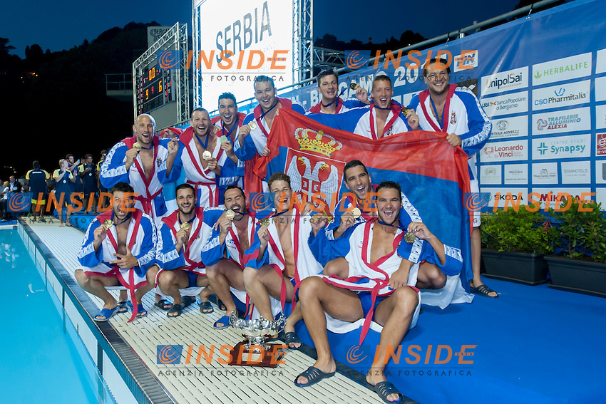 Serbia winner gold medal qualified for Rio 2016 Olympic Games<br /> Prize Ceremony<br /> day 06 - 28/06/2015<br /> FINA Water Polo World League Superfinal Men<br /> Bergamo (ITA) 23-28 June 2015<br /> Photo G.Scala/Deepbluemedia