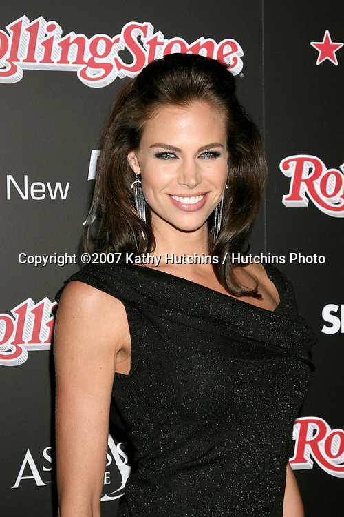 Brooke Burns.Rolling Stone Hot 2007 Party.Opera & Crimson.Los Angeles,   CA.October 4, 2007.©2007 Kathy Hutchins / Hutchins Photo...               .