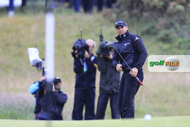 Jason DAY (AUS) putts onto the 17th green during Monday's Final Round of the 144th Open Championship, St Andrews Old Course, St Andrews, Fife, Scotland. 20/07/2015.<br /> Picture Eoin Clarke, www.golffile.ie