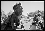 Elderly San woman, Tchumkwe village . Bushmanland. Namibia