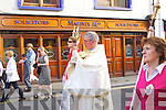 The Corpus Christi Procession leaving Saint John's Church on Saturday evening.
