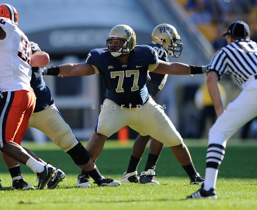 JASON PINKSTON, of the Pittsburgh Panthers in action during the Panthers game against the Syracuse Orangemen on November 7, 2009 in Pittsburgh, PA. Panthers won 37-10.