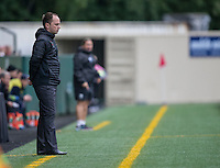 Seattle, Washington - Saturday May 14, 2016: Portland Thorns FC head coach Mark Parsons during the first half of a match at Memorial Stadium on Saturday May 14, 2016 in Seattle, Washington. The match ended in a 1-1 draw.