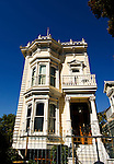 California, San Francisco: Yellow Victorian house near Divisadero and Sacramento Streets..Photo #: 21-casanf83873.Photo © Lee Foster 2008