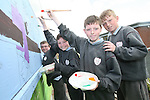 Stephen Nolan, Jake Keegan, Thomas O'Rourke and Cian O'Rourke of St.Itas School with the artwork they made for the arrival of the Special Olympics Torch next week...Photo NEWSFILE/Jenny Matthews.(Photo credit should read Jenny Matthews/NEWSFILE)....This Picture has been sent you under the condtions enclosed by:.Newsfile Ltd..The Studio,.Millmount Abbey,.Drogheda,.Co Meath..Ireland..Tel: +353(0)41-9871240.Fax: +353(0)41-9871260.GSM: +353(0)86-2500958.email: pictures@newsfile.ie.www.newsfile.ie.FTP: 193.120.102.198.