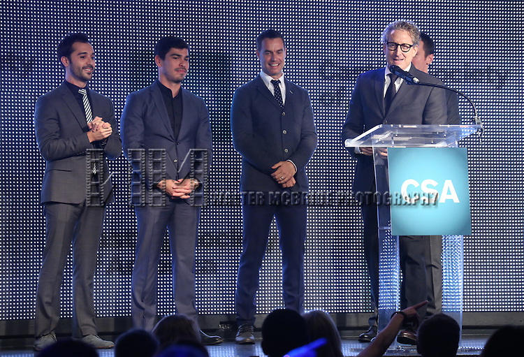 Frankie Alvarez, Raul Castillo, Murray Bartlett, Bernard Tesley and Jonathan Groff during the 30th Annual Artios Awards Presentation at 42 WEST on January 22, 2015 in New York City.