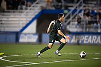 Santa Barbara, CA - Friday, December 7, 2018:  Akron men's soccer defeated Michigan State 5-1 in a semi-final match in the 2018 College Cup.  Michigan State's Hunter Barona advances the ball.