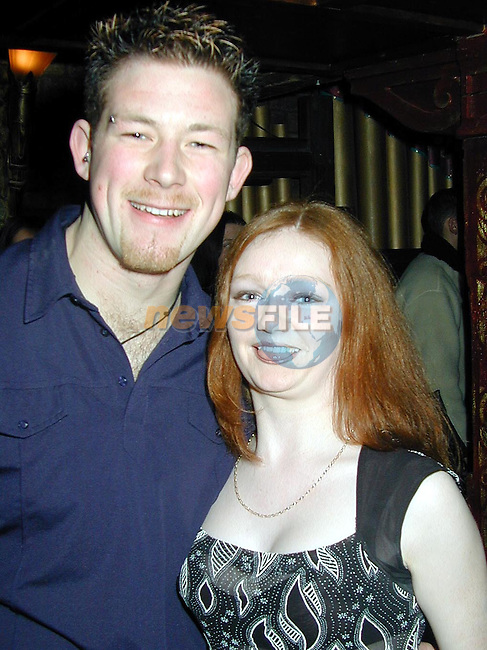 Darragh Kennedy and Kerry Kirwin enjoying a night out in O'Sheas..Picture Paul Mohan Newsfile.NO BYLINE PLEASE