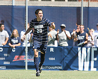Andy Riemer #20 of Georgetown University after scoring during an NCAA match against Michigan State at North Kehoe Field, Georgetown University on September 5 2010 in Washington D.C. Georgetown won 4-0.