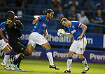 Bilel Mohsni and Jon Daly try to score
