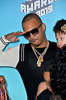 LOS ANGELES, CA. March 23, 2019: T.I. & Heiress Diana Harris at Nickelodeon's Kids' Choice Awards 2019 at USC's Galen Center.<br /> Picture: Paul Smith/Featureflash