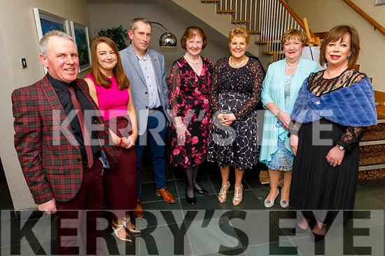Bill Joe Leen. Rebecca and Colm Carroll, Patrica Nealan, Majella Leen, Marion Harty and Ann O'Shea attending the Causeway Community Action Group  Oskars fundraiser  in the Ballyroe Heights Hotel on Friday.