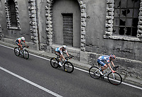 (eventual) stage winner Damiano Cima (ITA/Nippo - Vini Fantini) is part of the day's breakaway together with Nico Denz (DEU/AG2R-La Mondiale) & Mirco Maestri (ITA/Bardiani - CSF)<br /> <br /> Stage 18: Valdaora/Olang to Santa Maria di Sala (222km)<br /> 102nd Giro d'Italia 2019<br /> <br /> ©kramon